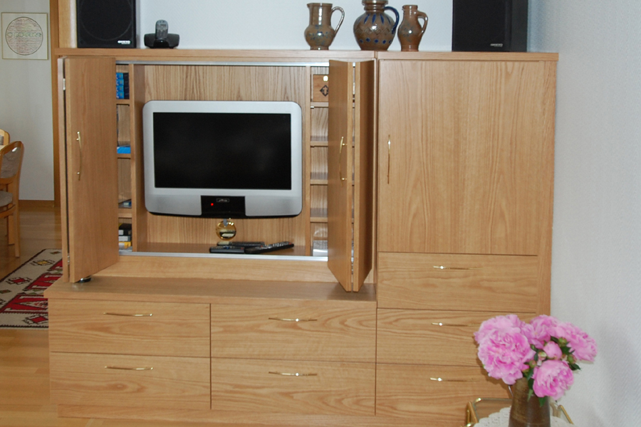 tv schrank offen m beltischlerei lorenz in schwalmtal. Black Bedroom Furniture Sets. Home Design Ideas